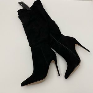 Express High Heel Over The Knee Black Boots 8